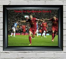 More details for steven gerrard memorial- large a2 to a5 poster - frames available free uk p&p