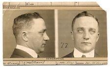 1915 mug shot photo Howard Leigh, Kansas City Mo. crime, forger