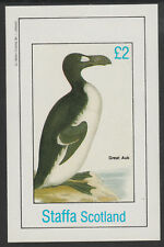 GB Locals - Staffa 7835 - BIRDS - GREAT AUK  deluxe sheet unmounted mint
