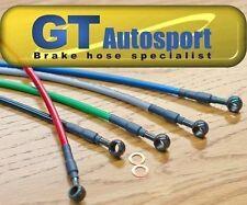 Black Stainless steel brake lines hoses 09-14 Acura TSX