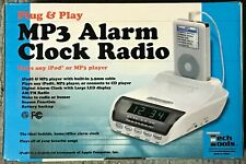 Tech Tools MP3 Alarm Clock Radio for iPod, iPhone, MP3-player (3.5mm audio jack)