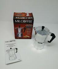 Mr. Coffee 6 Cup Espresso Maker Moka Pot Stovetop Camping New in Open Box