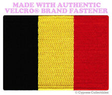 BELGIUM FLAG PATCH BELGIAN EMBROIDERED SOUVENIR new w/ VELCRO® Brand Fastener