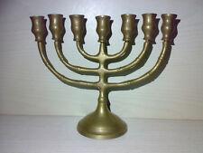 Menorah * Siebenarmiger Leuchter aus Metall Messing ??? * Menora Höhe: 13,2 cm *