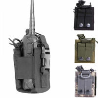 Universal Tactical Military Radio Walkie Talkie Holder Bag Pouch Protective Case