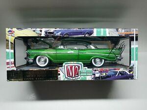 1957 CHEVROLET 210 HARDTOP GREEN 1:24 M2 OPENING HOOD DOORS TRUNK LIMITED 5000
