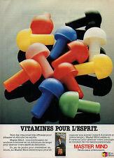 Publicité 1980  MASTER MIND jeu de société MIRO MECCANO