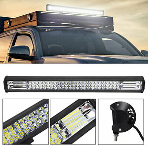 "648W 25""  LED Lightbar Lichtbalken Arbeitsscheinwerfer Offroad Lampe 12V 24V ASE"
