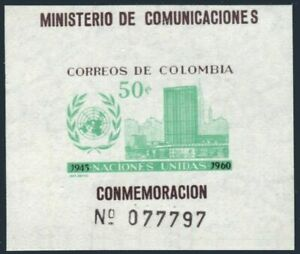Colombia 724,725,MNH.Michel 953,954 Bl.21. United Nations,15,1960.Headquarters.