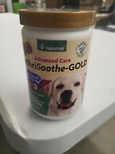 NaturVet ArthriSoothe Dog Cat aches Joint Pain GOLD Lvl 3 Soft Chews 180ct EXP21