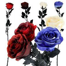 Single XL Gothic Rose Bud - Stem Artificial Flowers Wedding Home