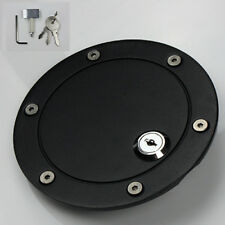 Matte Black Billet Gas Fuel Filler Cap Door Cover w/ Lock For 04-08 Ford F150