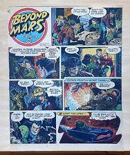 Beyond Mars by Jack Williamson - scarce full tab Sunday comic page Feb. 21, 1954