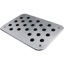 Aluminum Alloy Car Floor Mat Carpet Thick Aluminiun Heel Plate Pedal 30x20cm
