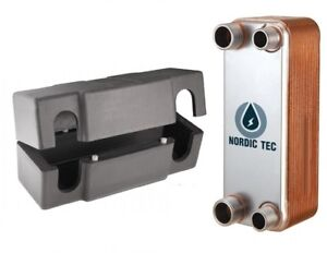 Stainless steel PLATE HEAT EXCHANGER NORDIC Tec 1 DN25 100-175kW +INSULATION BOX