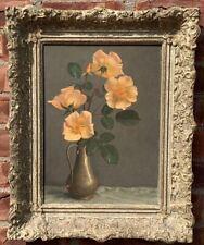 Scottish Artist John Bullock Souter Painting Still Life Of Oceana Roses. Signed
