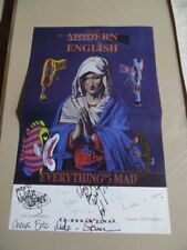 Modern English Autographed Concert Poster 1996 Everything's Mad