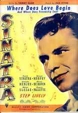 "Step Lively Sheet Music ""Where Does Love Begin"" Frank Sinatra Jule Styne"