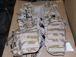 British Army tactical vest load carrying  desert DPM genuine issue