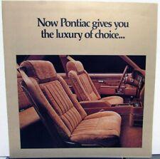 1979 Pontiac Bonneville Grand Prix Sporty Luxury Sales Brochure Original