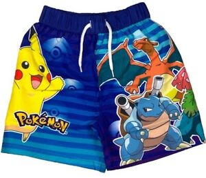 Official Pokemon Boys Children's Bermuda Swimming Board Shorts Ages 4, 6 Years