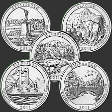USA Quarter Dollar Serie 2011 Unc. 5 Münzen
