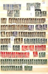 [OP5310] Italy lot of stamps on 12 pages