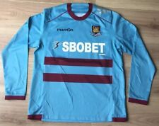 WEST HAM UNITED SHIRT  MACRON AWAY JERSEY 2011 2013 LONG SLEEVES SBOBET. MEDIUM