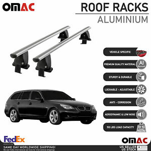 Smooth Top Roof Rack Cross Bar Luggage Carrier For BMW 5 Series Wagon 2004-2010