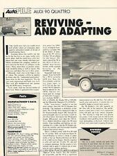 1993 Audi 90 Quattro Original Car Review Print Article H96