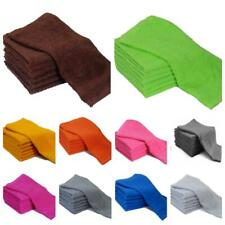 PACK OF 4 & 12 FACE CLOTHS TOWELS 100% COTTON FLANNELS WASH CLOTHS HEAVY 500 GSM