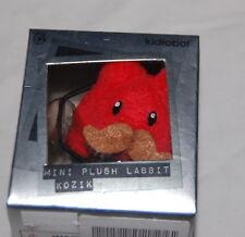 New Kidrobot Kozik Mini Plush Labbit Orange Mustache Scratch and Sniff Toy