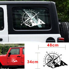 48x34 CM Off Road Auto Hood Side Körper Kompass Vinyl Aufkleber Aufkleber Weiß