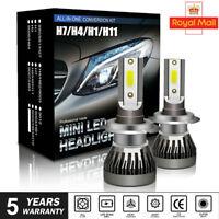 2X H1 H7 H4 H11/H8  LED Headlight 18000LM Car Bulbs Kit 6000k Canbus Error Free