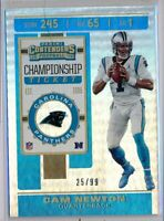 CAM NEWTON - 2019 Contenders Championship Ticket /99 - Panthers