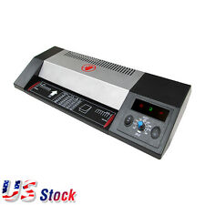 "US - Steel Thermal Laminator A3 A4 Hot / Cold 13"" Pouch Photo Laminating Machine"