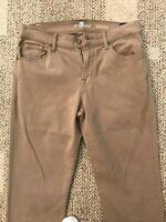 7 For All Mankind Mens Khaki Classic Chino Slimmy Straight Leg Pants Sz 30 X 34