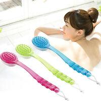 Hot Long Handled Plastic Body Bath Shower Back Brush Scrubber Cleaning Massager