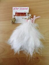 Betsey Johnson Marie Antoinette Mouse and Birdcage Mismatched Earrings MSRP $55