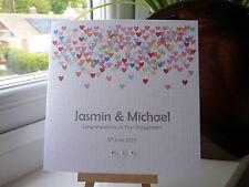 Modern Handmade Personalised Wedding Engagement Anniversary Card Confetti