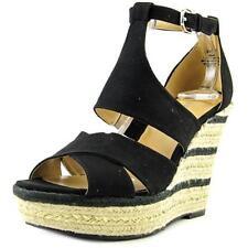 Sandali e scarpe nere tessile Nine West per il mare da donna