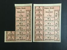 WW2 GERMAN OCCUPIED DENMARK. FOOD STAMPS  -:-  IN VERY NICE ORIGINAL CONDITION.