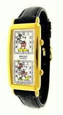 Ladies Seiko Mickey & Minnie Mouse Dual Time Quartz Watch. Rare and Hard to Find