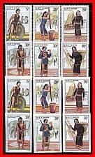 VIETNAM 1987 FOLK COSTUMES perf+imper SC#1765-70 MNH CV$15.00  ELEPHANTS AL