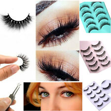 100% 3D Real Mink Hair Natural Thick Makeup Eye Lashes  Eyelashes 5 Styles