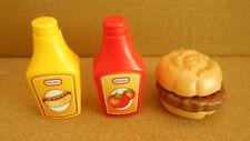 Little Tikes Hamburger Ketchup Mustard Pretend Play Food