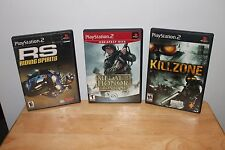 Playstation 2 Games -Medal Of Honor Frontline- Killzone- RS Riding Spirits- PS2