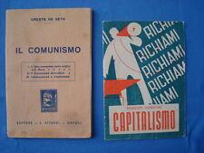 DE SETA ORESTE-IL COMUNISMO+VICENTINI-CAPITALISMO-LOTTO DUE OPUSCOLI