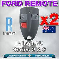 2 x To Suit Ford AU Falcon/FPV/XR6/XR8 Car/UTE Remote Series 2 & 3 99-02 AU2/AU3