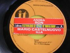 45 GIRI MARIO CASTELNUOVO ILLA+RON ANIMA +STICKER PROMO